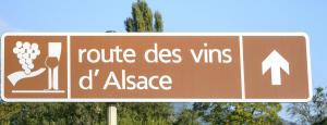 2017-07-04 - Vinvägen i Alsace - skylt.- © Göran Waldt
